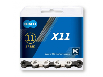 Reťaz KMC X11 Silver/Black, 11 Speed