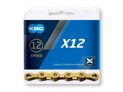 Reťaz KMC X12 Ti-N Gold, 12 Speed