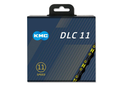 Reťaz KMC DLC 11 Black/Yellow, 11 Speed