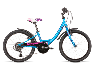 Bicykel DEMA AGGY 20 6sp turquoise-violet 2020